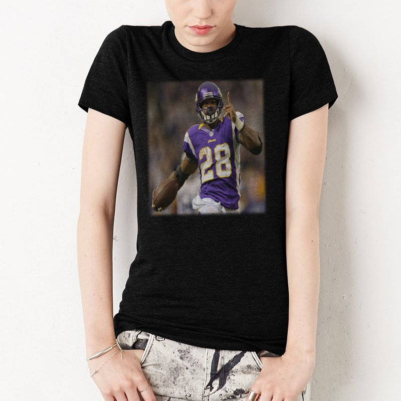 Adrian Lewis Peterson Minnesota Vikings Women T-Shirt