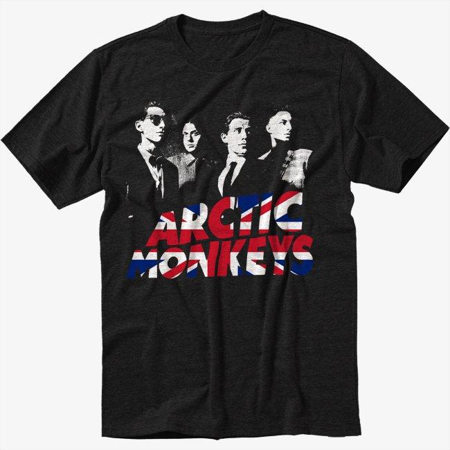 Arctic Monkeys Indie Rock Band Black T-Shirt Screen Printing