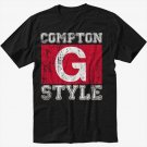 Compton G Style Gangsta Ice Cube Black T-Shirt Screen Printing