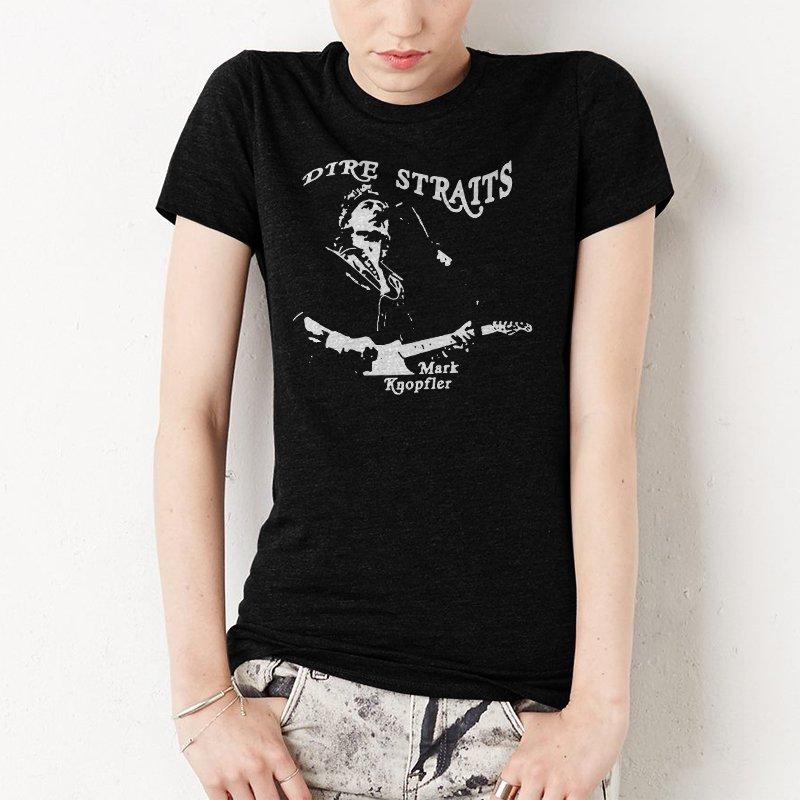 Dire Straits Women T-shirt Mark Knopfler Shirt Blues Rock