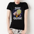 Dragon Ball Z Women T-Shirt Dragonball Inspired Just Saiyan