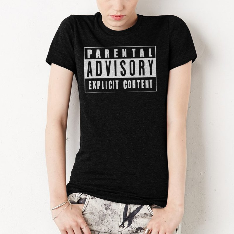 Explicit Content Parental Advisory Women T-Shirt HIP HOP