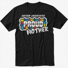 Autism Awareness - Proud Parent Teacher Mother Black T-Shirt Screen Printing