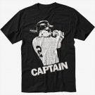 Derek Jeter New York Yankees Captain Black T-Shirt Screen Printing