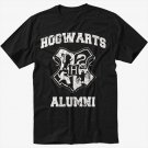 HOGWARTS ALUMNI Black T-Shirt Screen Printing