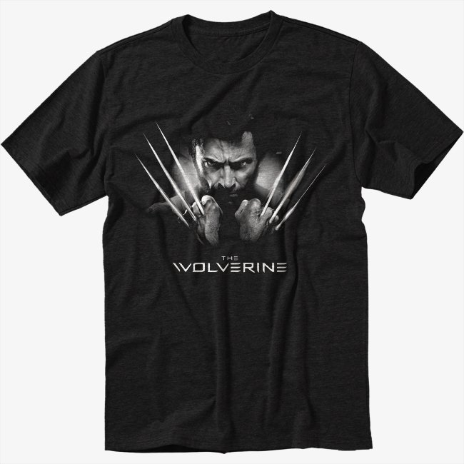 Marvel Comics Wolverine Black T-Shirt Screen Printing