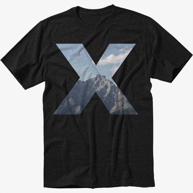 MOUNTAINS CROSS Black T-Shirt Screen Printing