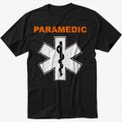 PARAMEDIC EMS Star of Life symbol Black T-Shirt Screen Printing