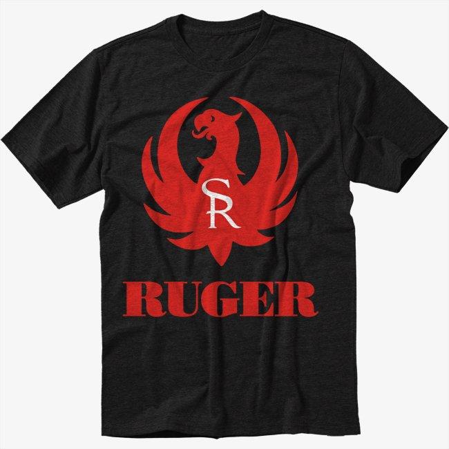 Ruger Firearms Black T-Shirt Screen Printing