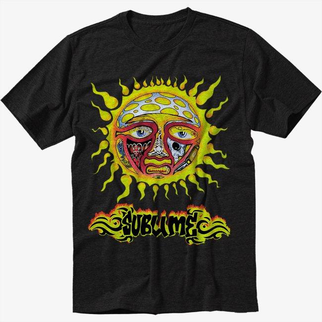 Sublime Sun Black T-Shirt Screen Printing