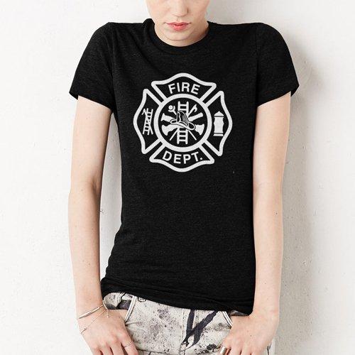 Firefighter Fire Department Women Black T-Shirt
