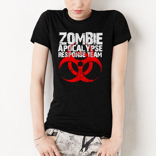 Zombie Response Team Women Black T-Shirt S - 2XL