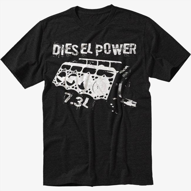 7.3L POWERSTROKE T-Shirt POWER STROKE FORD ENGINE Black T Shirt