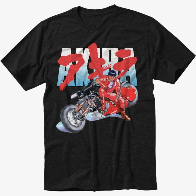 AKIRA KANEDA Black T-Shirt JAPANESE RETRO ANIME Tee