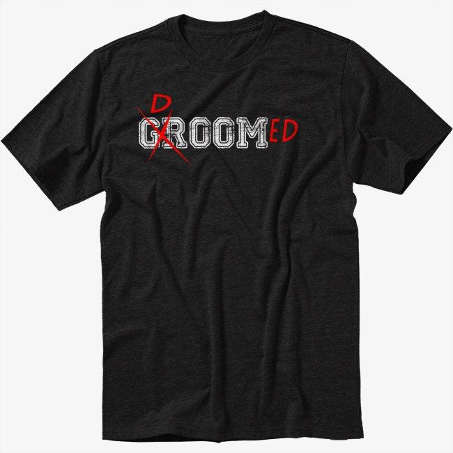 Doomed Groom Black T-Shirt Funny Marital Wedding Marriage