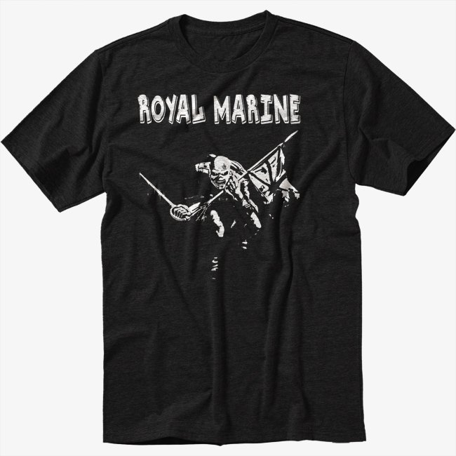 Royal Marines Black T-Shirt The Trooper Funny Military