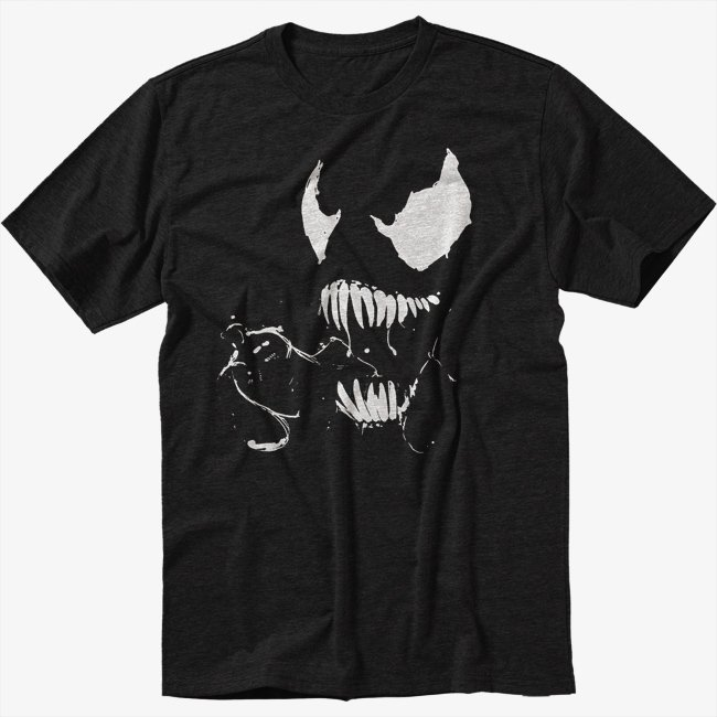 NEW SPIDERMAN BLACK T-SHIRT VENOM TEE