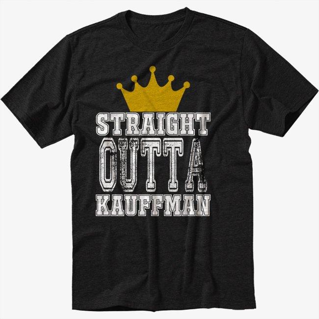 Straight Black T-Shirt Outta Kauffman Crown