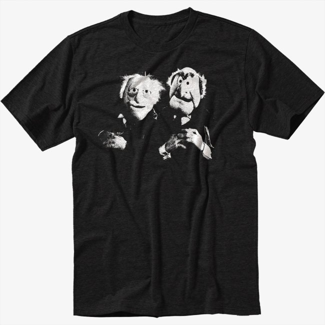 The Muppets Black T-Shirt Old Men S M L XL 2XL