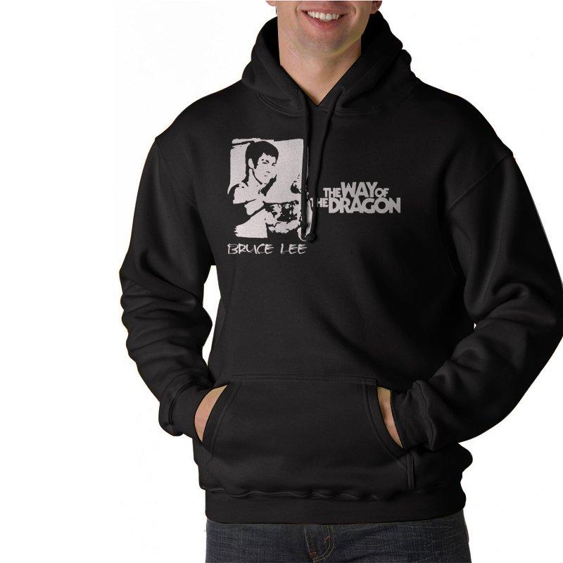 Bruce Lee Way Of The Dragon Black Hoodie