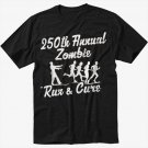 250th Annual Zombie Run for the Cure Walking Dead Men Black T Shirt