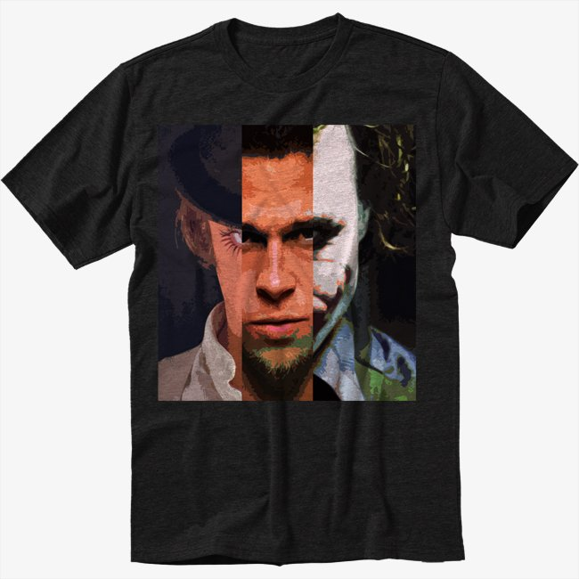 Alex Durden Joker Men Black T Shirt