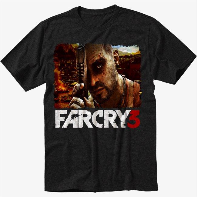 Far Cry 3 Men Black T Shirt