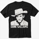 HANK WILLIAMS Country & Western Men Black T Shirt