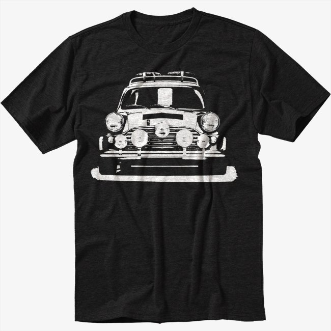 MINI Cooper rally old vintage personalised Men Black T Shirt