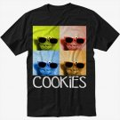 Sesame Street Cookie Monster Glasses Men Black T Shirt