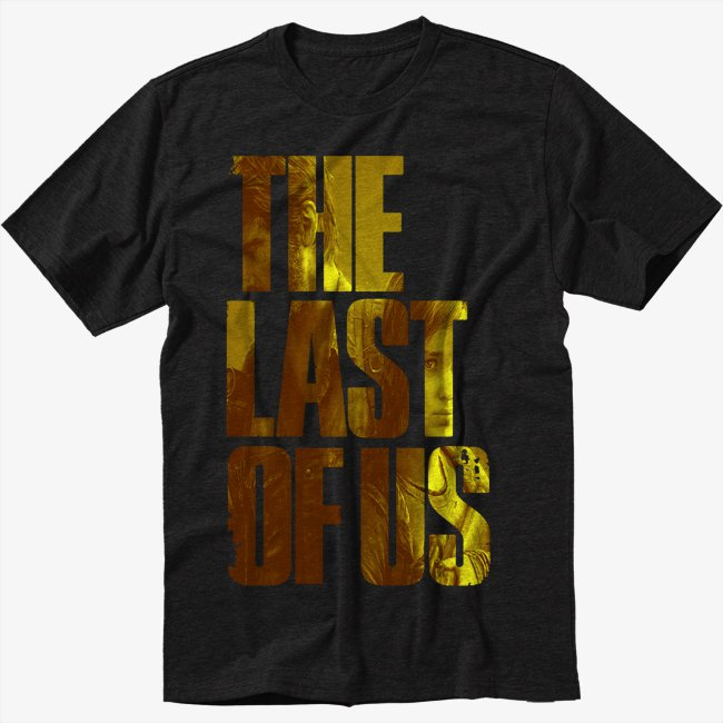 The Last Of Us Logo Men Black T Shirt