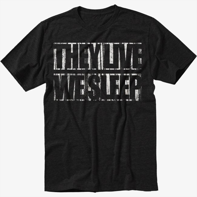 They Live we sleep, obey Men Black T Shirt