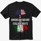 American Grown with Italian Roots Men Black Tshirt