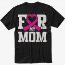 For My Mom Breast Cancer Awareness Men Black Tshirt