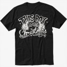 This Boy Loves Christmas Men Black Tshirt