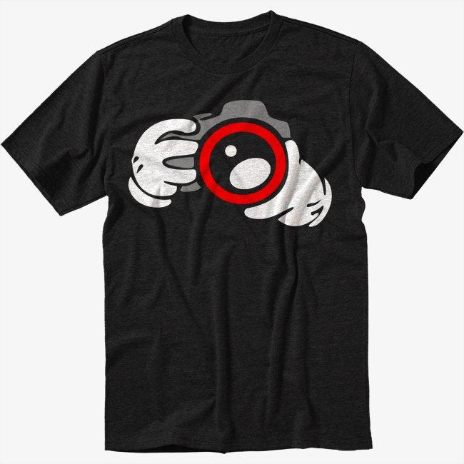Camera photography photographer design Men Black T-Shirt