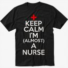 Keep Calm I'm Almost A Nurse  Men Black T-Shirt