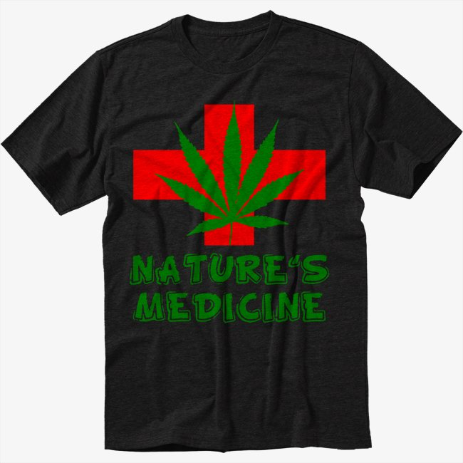 Nature's Medicine medical marijuana Men Black T-Shirt