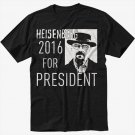 Breaking Bad Heisenberg For President 2016 Black T-Shirt