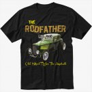 Old School Rodfather Hot Rat Rod Classic Car Black T-Shirt