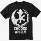 Choose Wisely Rebel Alliance Imperial Forces Men Black T-Shirt