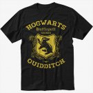 Hufflepuff Quidditch Funny Harry Hog Potter Warts Seeker House Men Black T-Shirt