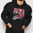 New Rare AKIRA KANEDA JAPANESE RETRO ANIME Men Black Hoodie Sweater