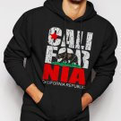 New Rare California Republic state Bear Flag Men Black Hoodie Sweater
