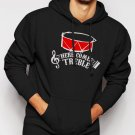New Rare HERE COMES TREBLE TROUBLE MARCHING BAND TEACHER MUSIC Men Black Hoodie Sweater