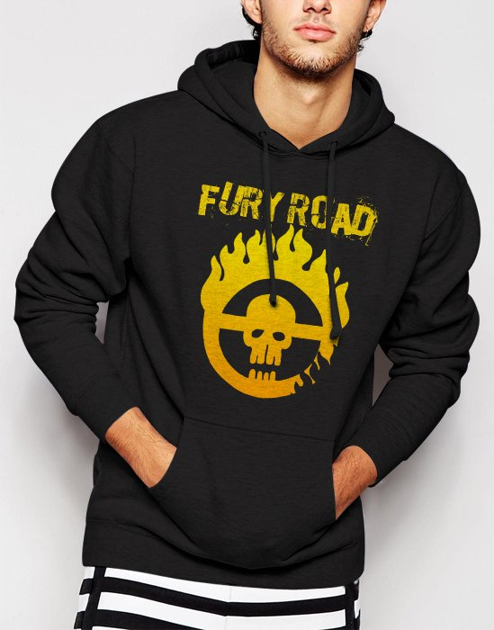 New Rare MAD MAX FURY ROAD Men Black Hoodie Sweater
