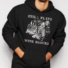 New Rare STILL PLAYS WITH BLOCK  CHEVY CAR TRUCK CLASSIC Men Black Hoodie Sweater