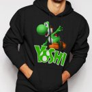 New Rare Boys Nintendo Big Green Yoshi Men Black Hoodie Sweater