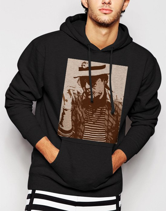 New Rare Hunter S. Thompson Men Black Hoodie Sweater