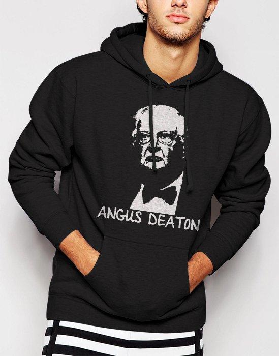 New Rare Angus Deaton Great Escape Men Black Hoodie Sweater